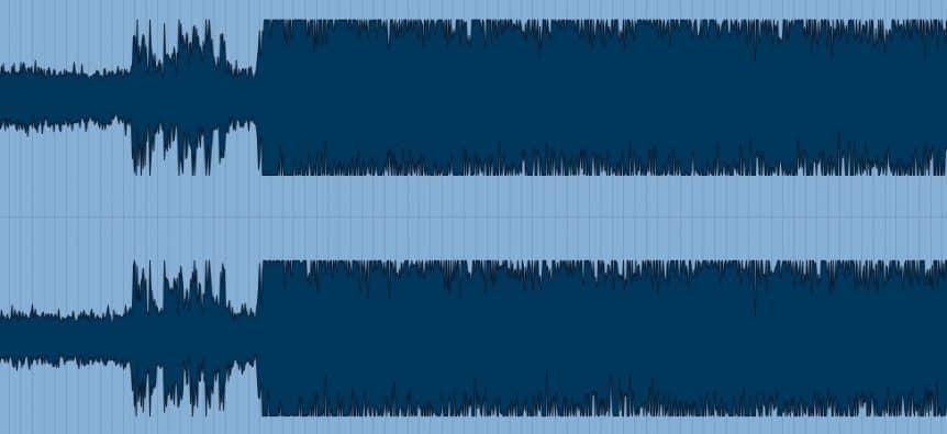 Waveform d'un morceau sur compressé