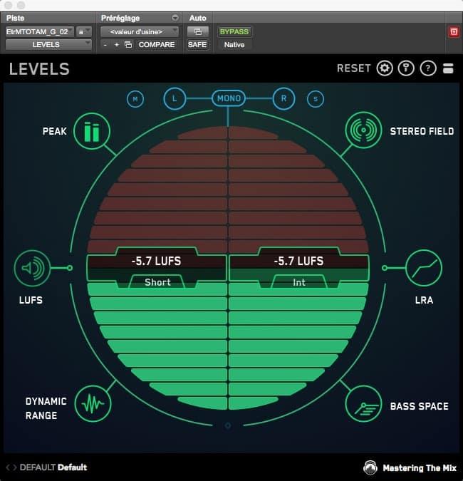 Excellent plugin de mettering : LEVELS par Mastering The Mix