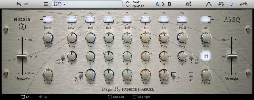 Eiosis AirEQ, le plugin d'eq de nettoyage ultime pour le mixage et le mastering
